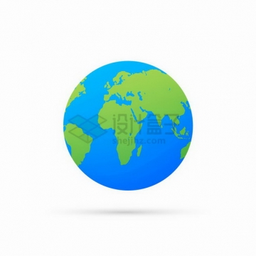 蓝色的海洋绿色的大地地球模型png图片免抠矢量素材