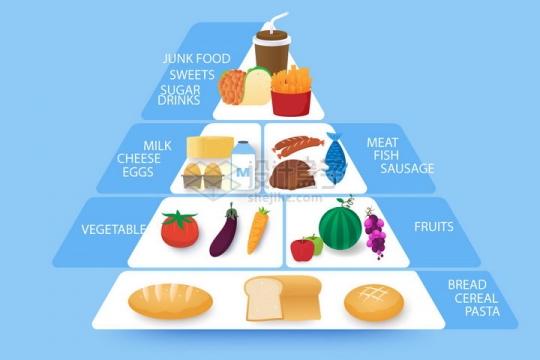 各种美食营养金字塔信息图表png图片免抠矢量素材