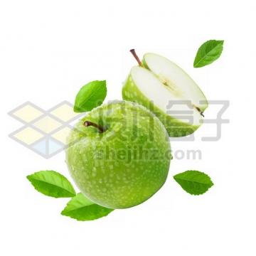 切开的青苹果765497psd/png图片素材