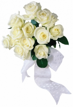 白玫瑰一束鲜花698743png图片素材
