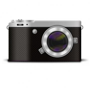 一款黑色的复古数码单反照相机正面图818728png图片素材