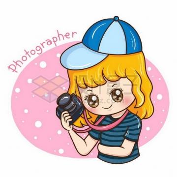 卡通小孩检查照相机592677png矢量图片素材