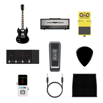 尤克里里吉他等9款音响乐器音乐设备图片免抠素材