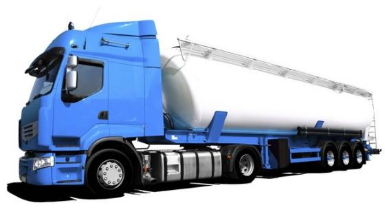 蓝色大型槽罐车油罐车危险品运输卡车特种运输车953326png图片素材