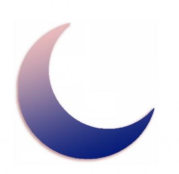 弯弯的渐变色月亮546809png图片素材
