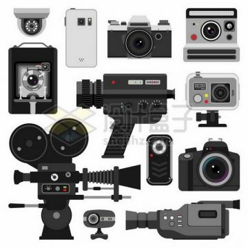 各种监控摄像头数码照相机录像机等855718png矢量图片素材