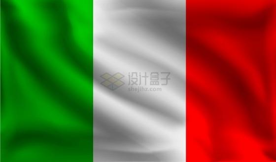飘扬的意大利国旗png图片素材