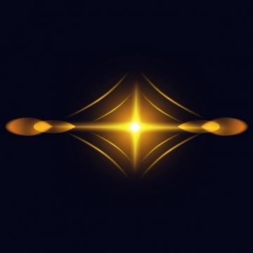 黄色光晕星光效果138214png图片素材