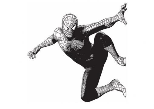 黑白插画风格蜘蛛侠794870png图片素材