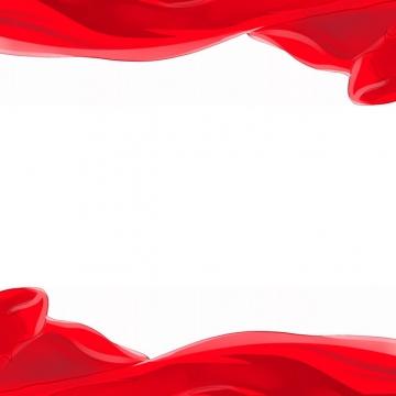飘扬的红色绸缎面丝绸红旗装饰645288png图片素材
