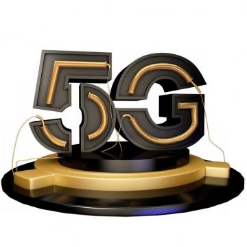 3D金色黑色5G立体字体413222png图片素材