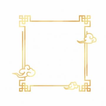 金色中国风正方形边框856660png图片素材