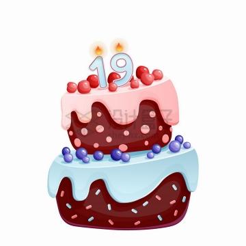 卡通巧克力奶油生日蛋糕png图片免抠矢量素材