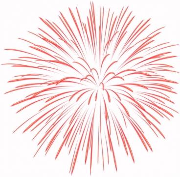 绽放的红色烟花礼花效果图案596026png图片素材