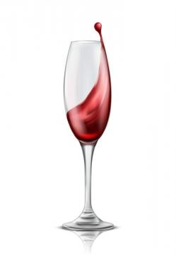 透明高脚杯中的红酒图片免抠素材