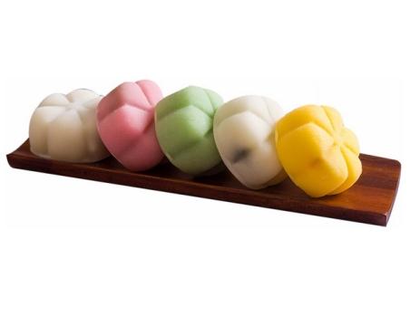 五颜六色的冰皮月饼653173免抠图片素材