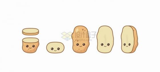卡通土豆马铃薯自带各种表情蔬菜png图片免抠矢量素材