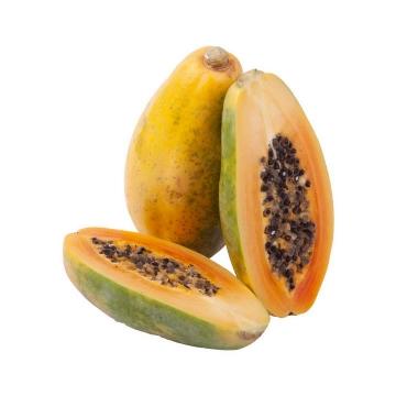 切开的红心牛奶青木瓜热带水果图片免抠素材