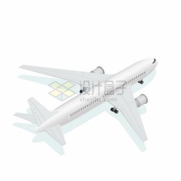 一架银白色的大型客机飞机png图片免抠矢量素材