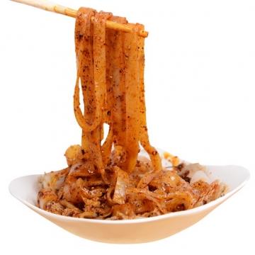 筷子叉起的凉粉小吃美食342424png图片素材