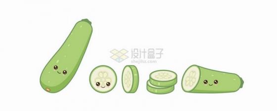 卡通黄瓜自带各种表情蔬菜png图片免抠矢量素材