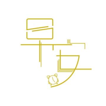 创意简洁线条早安早上好艺术字体图片免抠素材