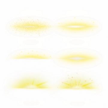6款黄色光芒效果发光感光效果装饰244144PSD免抠图片素材