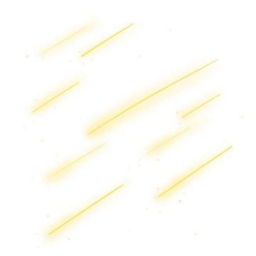 黄色发光线条装饰图片免抠素材