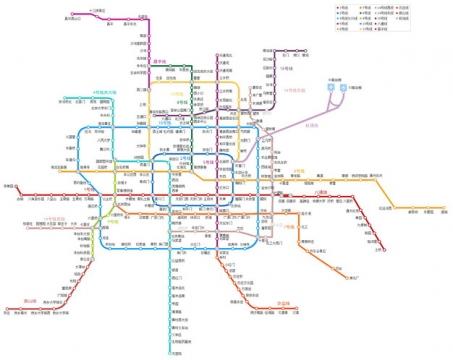 北京地铁线路图图片素材