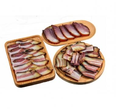 三盘切片的腊肉熏肉咸肉241095免抠图片素材