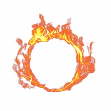 燃烧的火焰火圈180549png图片免抠素材