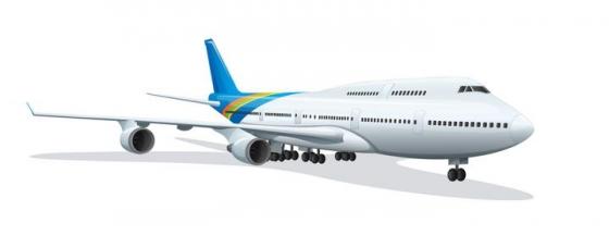 斜视角的大型客机飞机免扣图片素材