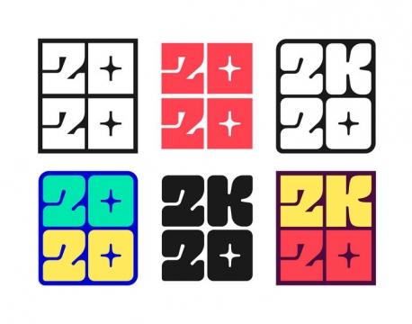 6款创意2020年艺术字体免抠图片素材