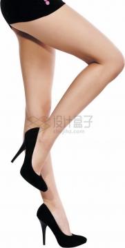 美女黑色高跟鞋大长腿美腿9037421png免抠图片素材