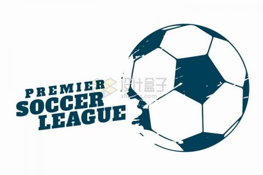 涂鸦足球图案标题框png图片免抠矢量素材