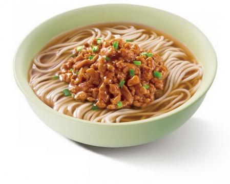 一碗美味的的肉丝面美食面条png图片免抠素材