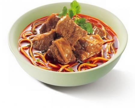 一碗美味的的红烧牛肉面美食面条png图片免抠素材