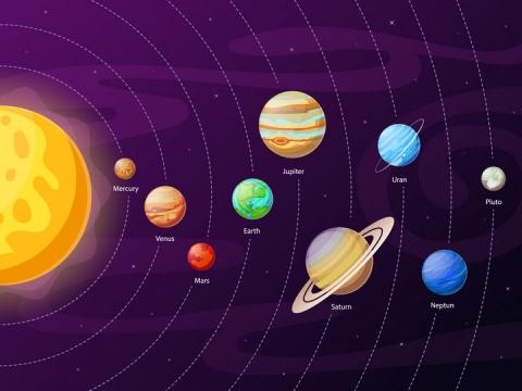 太阳系九大行星结构图图片免抠素材