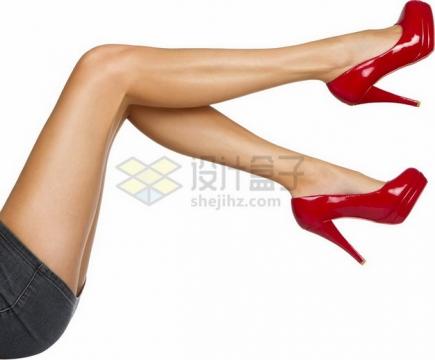 红色高跟鞋的美女美腿7213220png免抠图片素材