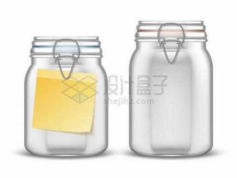 两款逼真的储物罐玻璃密封罐990655png矢量图片素材