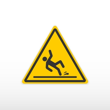 小心滑倒提示牌警告标志警示标牌图片免抠矢量素材