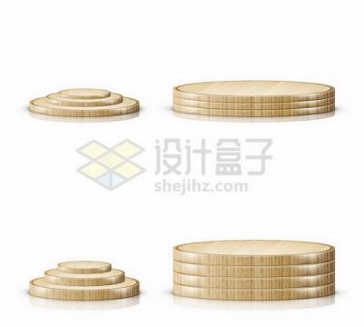 4款木制圆形展台103444png矢量图片素材