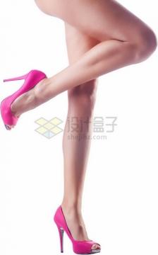 粉色高跟鞋笔直的美腿9874301png免抠图片素材