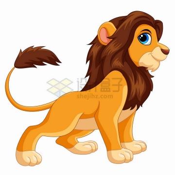 傲娇的狮子雄狮可爱卡通动物png图片免抠矢量素材