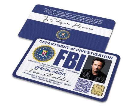 美国联邦调查局FBI警官证件png图片素材