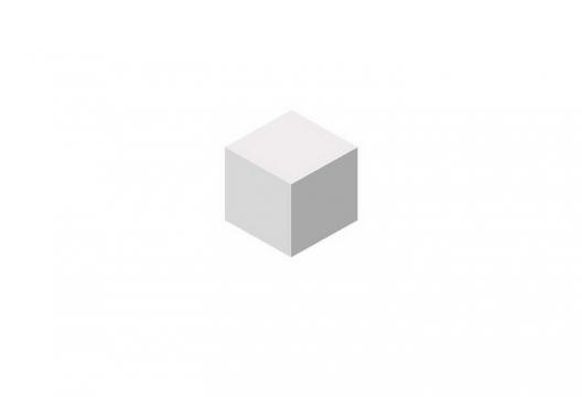 灰色立体方块图片免抠素材