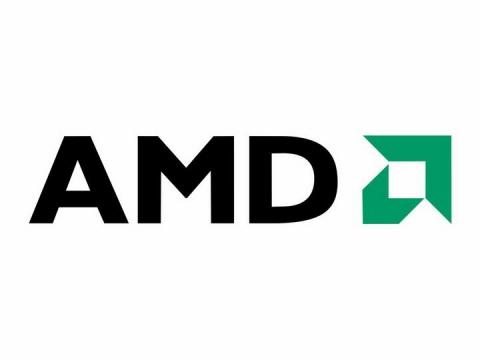 横版绿色CPU处理器品牌AMD品牌标志LOGO图片免抠素材