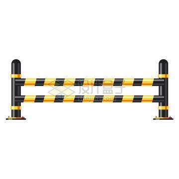 黄色黑色隔离栅栏png图片免抠矢量素材