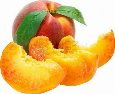 切开的桃子香山水蜜桃png图片素材