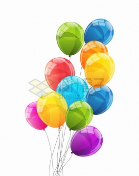 反光光泽的彩色气球png图片免抠矢量素材